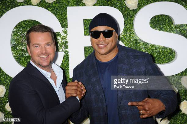 Actors Chris O'Donnell and LL Cool J attends the 2017 Summer TCA Tour CBS Television Studios' Summer Soiree at CBS Studios Radford on August 1 2017...