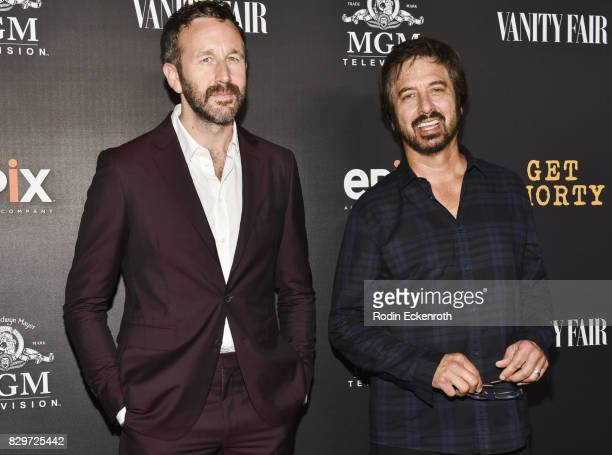 Actors Chris O'Dowd and Ray Romano attend the red carpet premiere of EPIX Original Series 'Get Shorty' at Pacfic Design Center on August 10 2017 in...