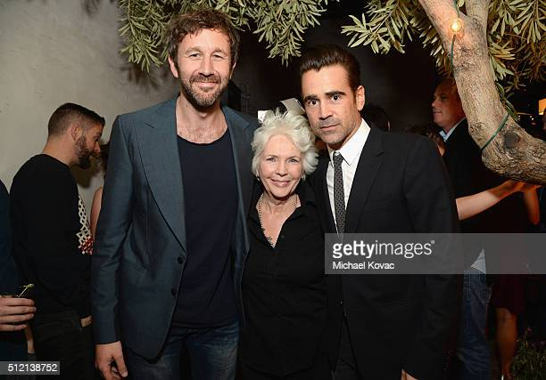 Actors Chris O'Dowd Fionnula Flanagan and Colin Farrell attend The Irish Film Board and IDA celebrating the success of Irish cinema at Laurel...