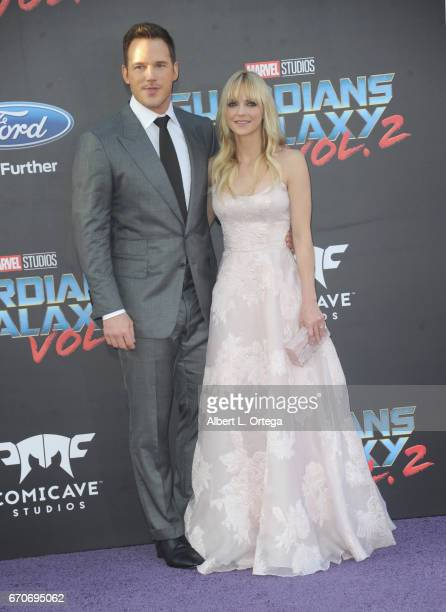 Actors Chris Pratt and Anna Faris arrive for the Premiere Of Disney And Marvel's 'Guardians Of The Galaxy Vol 2' held at Dolby Theatre on April 19...