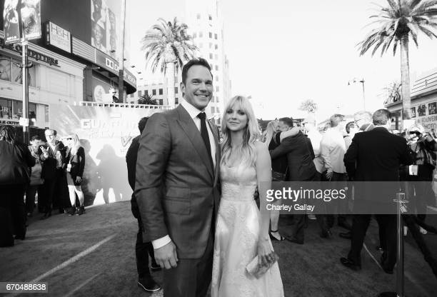 "Actors Chris Pratt and Anna Faris at The World Premiere of Marvel Studios' ""Guardians of the Galaxy Vol 2"" at Dolby Theatre in Hollywood CA April..."