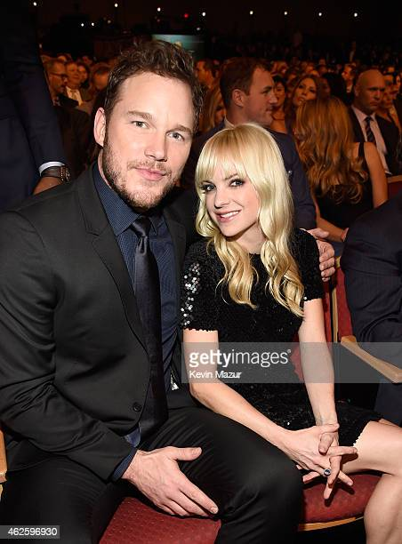 Actors Chris Pratt and Anna Faris attend the 4th Annual NFL Honors at Phoenix Convention Center on January 31 2015 in Phoenix Arizona