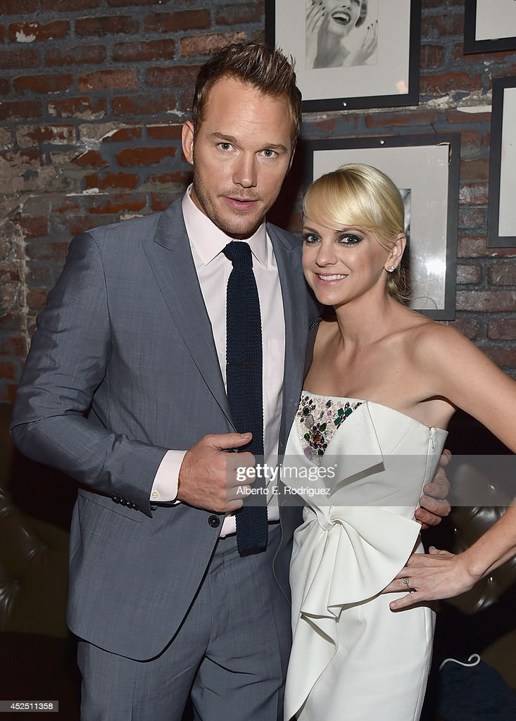 """Actors Chris Pratt and Anna Faris attend the after party for The World Premiere of Marvel's epic space adventure """"Guardians of the Galaxy"""" directed..."""