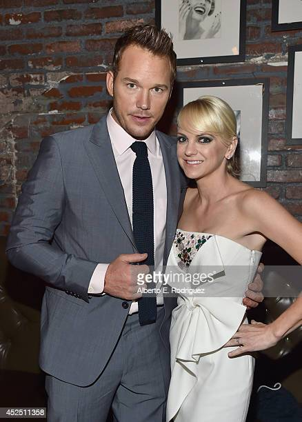 "Actors Chris Pratt and Anna Faris attend the after party for The World Premiere of Marvel's epic space adventure ""Guardians of the Galaxy"" directed..."
