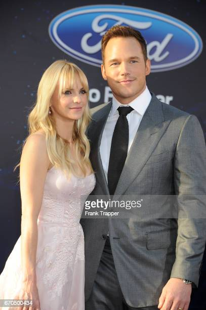 Actors Chris Pratt and Anna Faris attend the premiere of Disney and Marvel's 'Guardians Of The Galaxy Vol 2' at the Dolby Theatre on April 19 2017 in...
