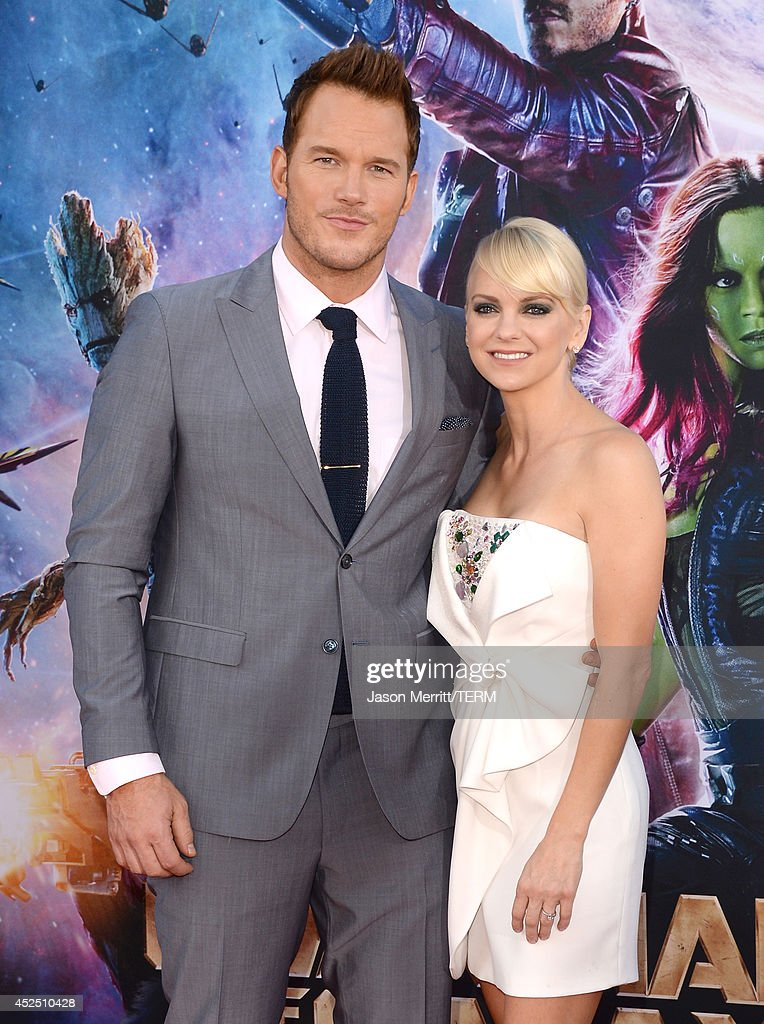 Actors Chris Pratt (L) and Anna Faris attend the premiere of Marvel's 'Guardians Of The Galaxy' at the Dolby Theatre on July 21, 2014 in Hollywood, California.