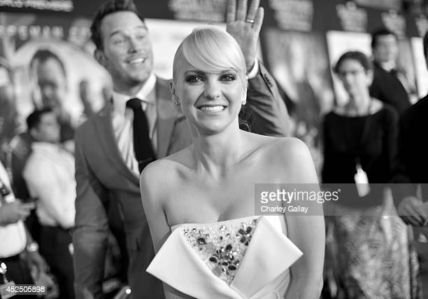 """Actors Chris Pratt and Anna Faris attend The World Premiere of Marvel's epic space adventure """"Guardians of the Galaxy"""" directed by James Gunn and..."""