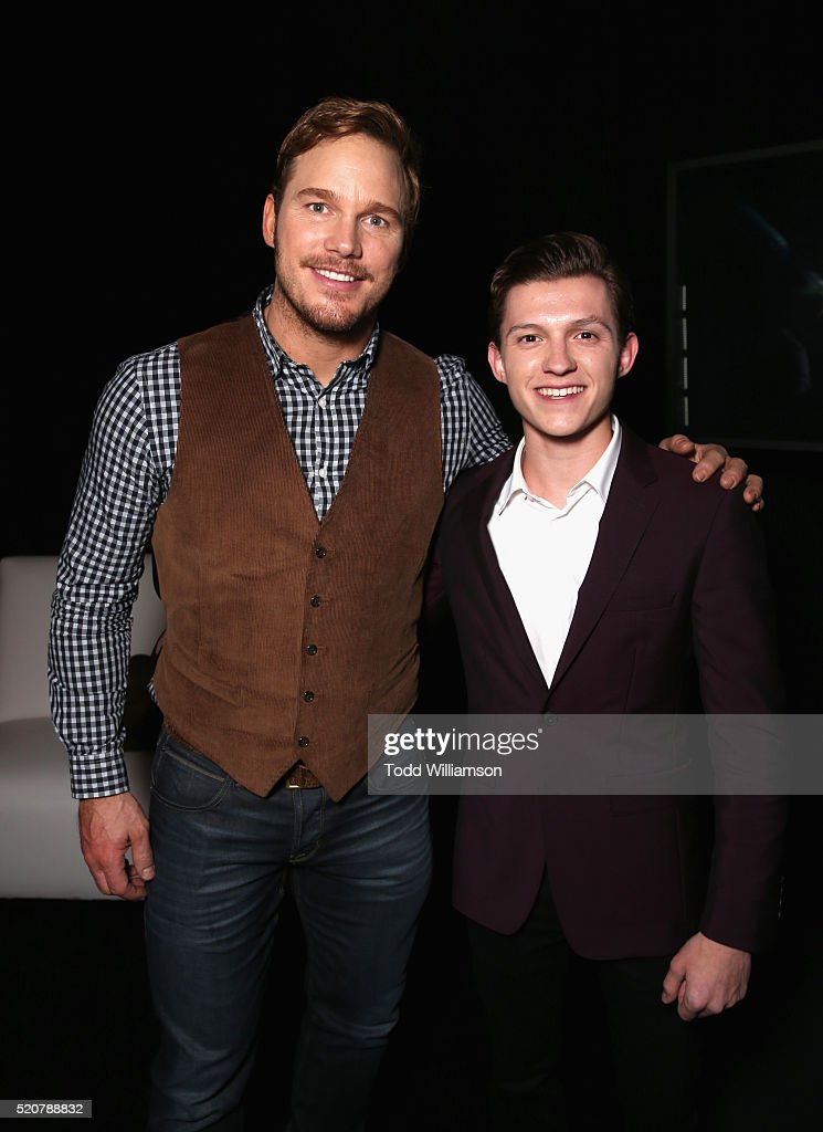 Actors Chris Pratt and Tom Holland attend CinemaCon 2016 An Evening with Sony Pictures Entertainment Celebrating the Summer of 2016 and Beyond at The...