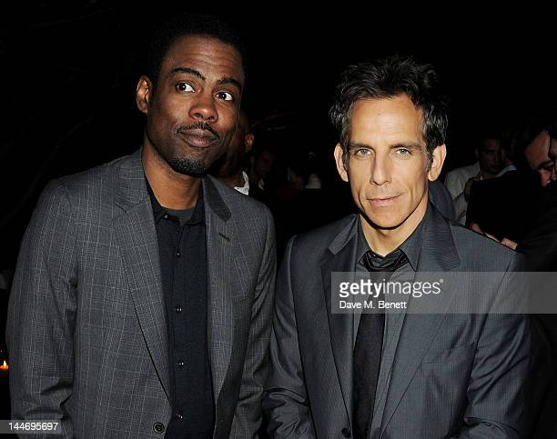 Actors Chris Rock and Ben Stiller attend as The IFP Calvin Klein Collection euphoria Calvin Klein celebrate Women In Film during the 65th Cannes Film...