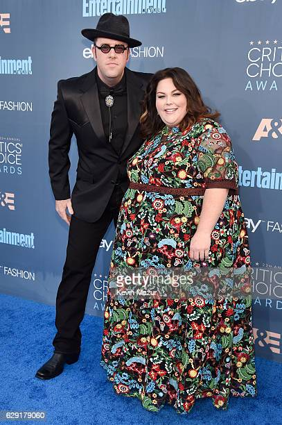 Actors Chris Sullivan and Chrissy Metz attend The 22nd Annual Critics' Choice Awards at Barker Hangar on December 11 2016 in Santa Monica California