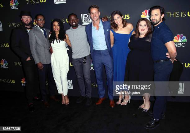 Actors Chris Sullivan Ron Cephas Jones Susan Kelechi Watson Sterling K Brown Justin Hartley Mandy Moore Chrissy Metz and Milo Ventimiglia attend 20th...