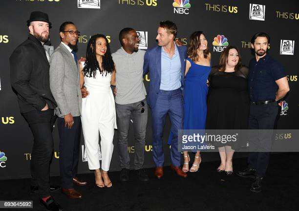 Actors Chris Sullivan Ron Cephas Jones Susan Kelechi Watson Sterling K Brown Justin Hartley Mandy Moore Chrissy Metz and Milo Ventimiglia attend the...