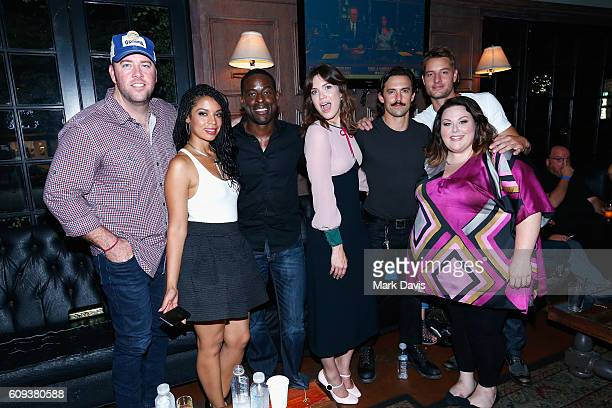 Actors Chris Sullivan Susan Kelechi Watson Mandy Moore Milo Ventimiglia Justin Hartley and Chrissy Metz attend NBC's Live screening and social...