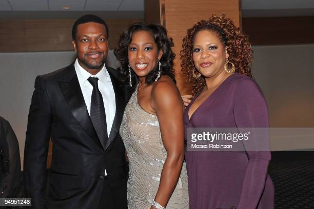 Actors Chris Tucker Dawn Lewis and Kim Coles attend the 26th anniversary UNCF Mayor's Masked Ball at Atlanta Marriot Marquis on December 19 2009 in...