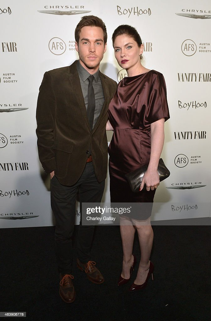 Actors Chris Wood and Jodi Lyn O'Keefe attend VANITY FAIR and Chrysler Celebration of Richard Linklater and the cast of 'Boyhood' at Cecconi's on...