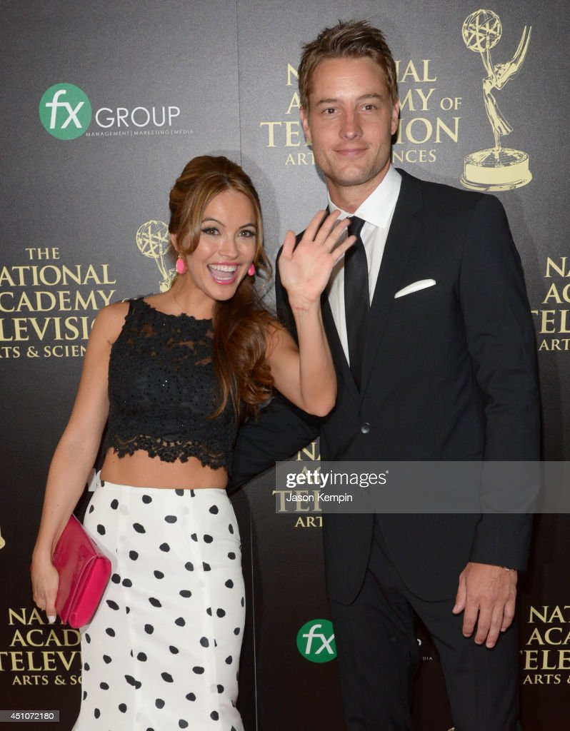 Actors Chrishell Stause (L) and Justin Hartley attend The 41st Annual Daytime Emmy Awards at The Beverly Hilton Hotel on June 22, 2014 in Beverly Hills, California.