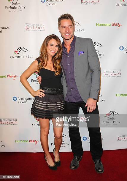 Actors Chrishell Stause and Justin Hartley attend the 5th Annual Los Angeles Unbridled Eve Derby Prelude Party at The London West Hollywood on...