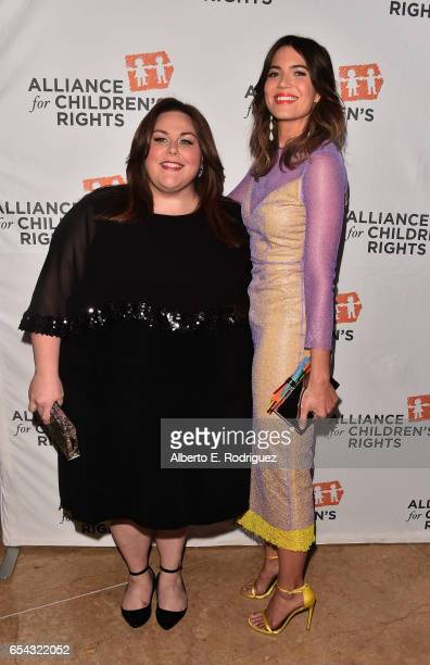 Actors Chrissy Metz and Mandy Moore attend The Alliance For Children's Rights 25th Anniversary Celebration at The Beverly Hilton Hotel on March 16...