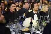 Actors Christian Bale and Matthew McConaughey attend the Critics' Choice Movie Awards 2013 with Skinnygirl Cocktails at Barkar Hangar on January 10...