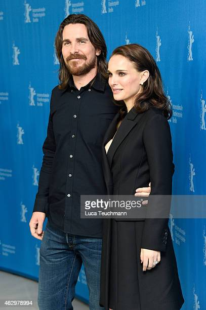 Actors Christian Bale and Natalie Portman attend the 'Knight of Cups' photocall during the 65th Berlinale International Film Festival at Grand Hyatt...