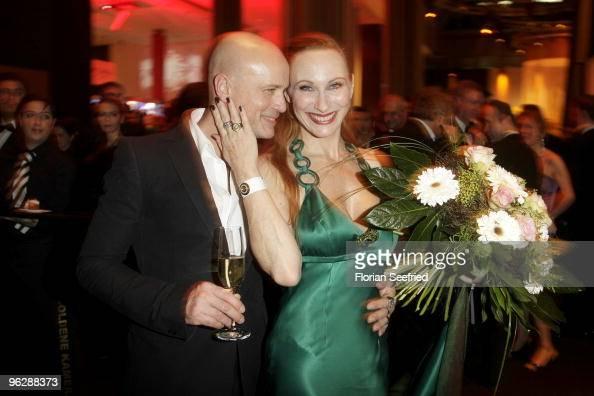 Actors Christian Berkel and Andrea Sawatzki attend the Goldene Kamera 2010 Award at the Axel Springer Verlag on January 30 2010 in Berlin Germany