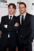 Actors Christian Borle and Will Chase attend the 27th annual Lucille Lortel Awards at the NYU Skirball Center on May 6 2012 in New York City