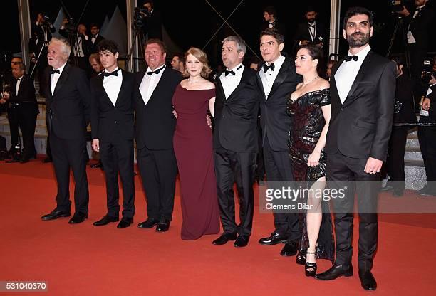 Actors Christian Bouillette Basile Meilleurat Raphael Thiery India Hair Damien Bonnard Alain Guiraudie Laure Calamy and Sebastien Novac attend the...