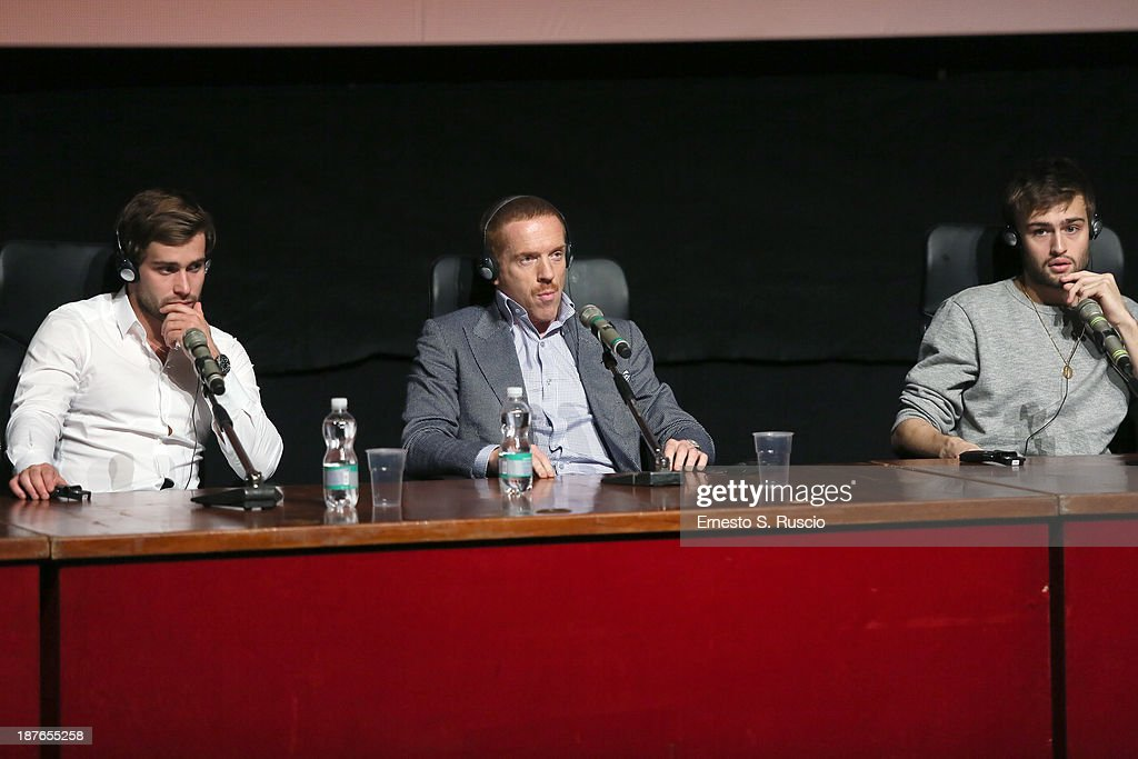 Actors Christian Cooke, <a gi-track='captionPersonalityLinkClicked' href=/galleries/search?phrase=Damian+Lewis&family=editorial&specificpeople=206939 ng-click='$event.stopPropagation()'>Damian Lewis</a> and <a gi-track='captionPersonalityLinkClicked' href=/galleries/search?phrase=Douglas+Booth&family=editorial&specificpeople=6324411 ng-click='$event.stopPropagation()'>Douglas Booth</a> speak at the 'Romeo And Juliet' Press Conference during the 8th Rome Film Festival at the Auditorium Parco Della Musica on November 11, 2013 in Rome, Italy.