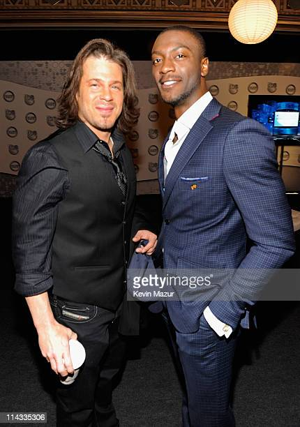 Actors Christian Kane and Aldis Hodge attend the TEN Upfront 2011 at Hammerstein Ballroom on May 18 2011 in New York City 21147_005_KM_0095JPG