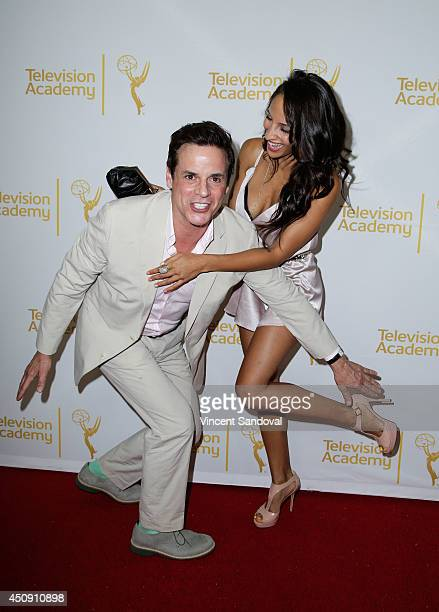 Actors Christian LeBlanc and Christel Khalil attend the Television Academy Daytime Emmy Nominee reception at The London West Hollywood on June 19...