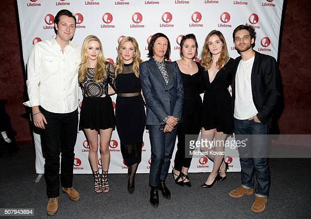 Actors Christian Madsen Greer Grammer Mackenzie Mauzy director Leslie Libman actors Eden Brolin Grace Victoria Cox and Jeff Ward attend 'Manson's...