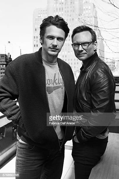 Actors Christian Slater and James Franco are photographed for Vanity Faircom on April 19 2016 in New York City