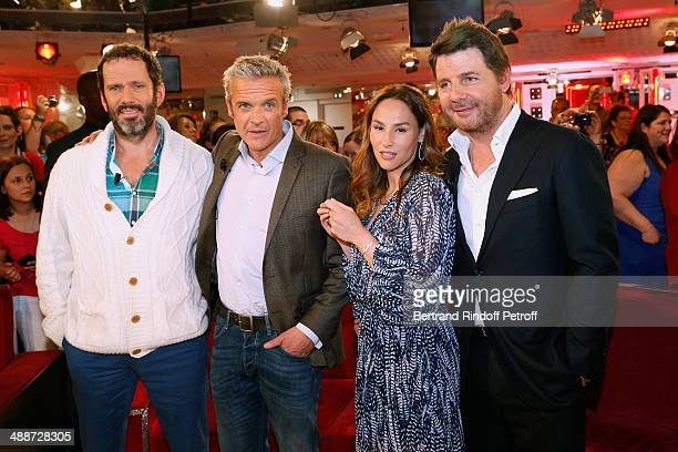 Actors Christian Vadim David Brecourt Vanessa Demouy and her husband Philippe Lellouche present the theater play 'L'appel de Londres' and celebrate...