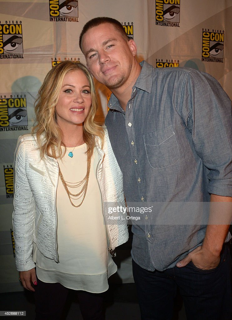 Actors Christina Applegate (L) and Channing Tatum attend the 20th Century Fox presentation during Comic-Con International 2014 at San Diego Convention Center on July 25, 2014 in San Diego, California.