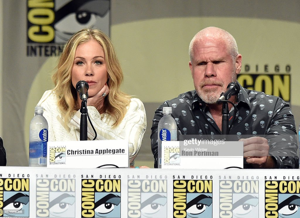 Actors Christina Applegate (L) and Ron Perlman attend the 20th Century Fox presentation during Comic-Con International 2014 at San Diego Convention Center on July 25, 2014 in San Diego, California.