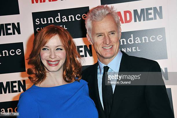 Actors Christina Hendricks and John Slattery attend the Sundance Channel Mad Men Gala Event at Hotel Royal Monceau Raffle on February 8 2011 in Paris...