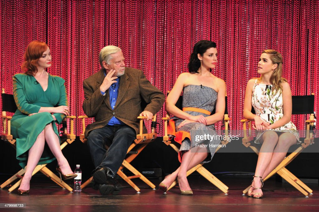 Actors Christina Hendricks, Robert Morse, Jessica Pare and Kiernan Shipka on stage at The Paley Center For Media's PaleyFest 2014 Honoring 'Mad Men' at Dolby Theatre on March 21, 2014 in Hollywood, California.