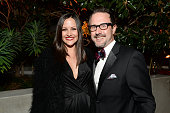 Actors Christina McLarty and David Arquette attend The Art of Elysium's 7th Annual HEAVEN Gala presented by MercedesBenz at Skirball Cultural Center...