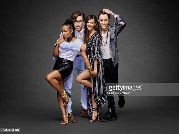 Actors Christina Milian Ryan McCartan Victoria Justice and Reeve Carney from 'The Rocky Horror Picture Show' are photographed for Entertainment...