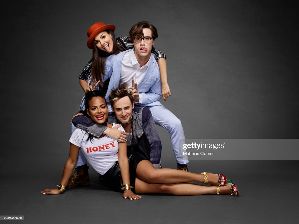 Actors Christina Milian, Victoria Justice, Ryan McCartan and Reeve Carney from 'The Rocky Horror Picture Show' are photographed for Entertainment Weekly Magazine on July 21, 2016 at Comic Con in the Hard Rock Hotel in San Diego, California.