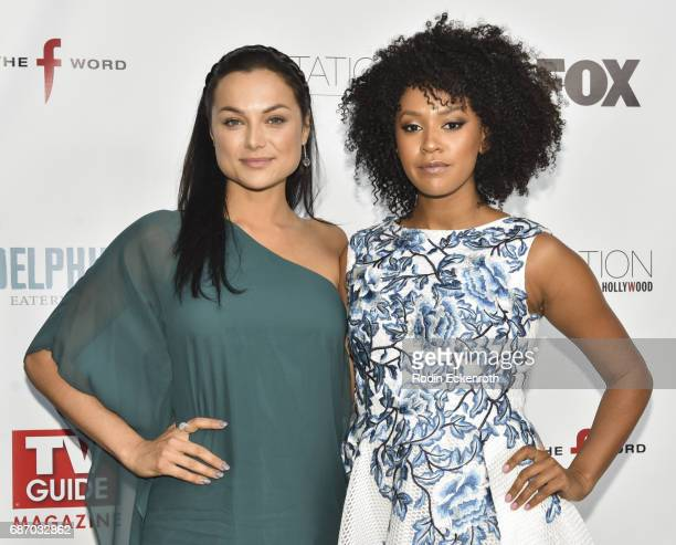 Actors Christina Ochoa and Corbin Reid attend 'The F Word' with Gordon Ramsay celebration at Station Hollywood at W Hollywood Hotel on May 22 2017 in...