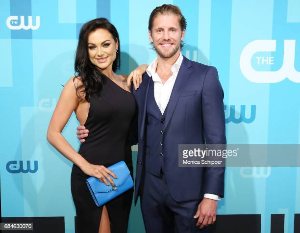 Actors Christina Ochoa and Matt Barr attends the 2017 CW Upfront on May 18 2017 in New York City