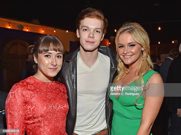 Actors Christina Scherer Cameron Monaghan and Cassi Thomson attend the after party for the screening of Samuel Goldwyn Films' 'Rudderless' at El...