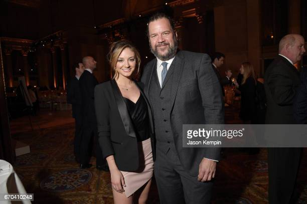 Actors Christine Evangelista and Dwayne Hill attend the Food Bank for New York City CanDo Awards Dinner 2017 on April 19 2017 in New York City