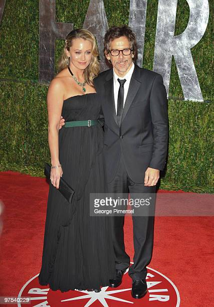 Actors Christine Taylor and Ben Stiller arrive at the 2010 Vanity Fair Oscar Party hosted by Graydon Carter held at Sunset Tower on March 7 2010 in...