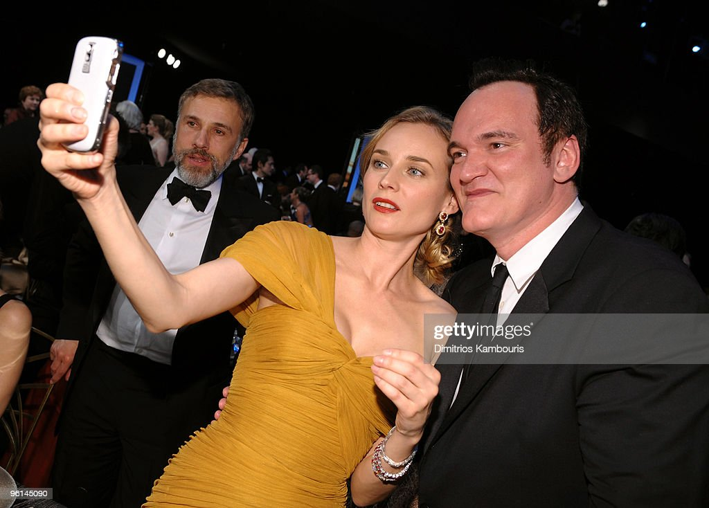 Actors Christoph Waltz and Diane Kruger and director Quentin Tarantino attend the TNT/TBS broadcast of the 16th Annual Screen Actors Guild Awards at the Shrine Auditorium on January 23, 2010 in Los Angeles, California. 19379_006_DK_0212.JPG