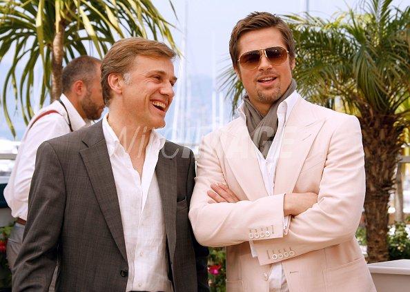 6061069407 Actors Christoph Waltz Brad Pitt attend the Inglourious Basterds ...