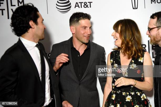 Actors Christopher Abbott Jon Bernthal and Rosemarie DeWitt attend the 'Sweet Virginia' Premiere during 2017 Tribeca Film Festival at Cinepolis...