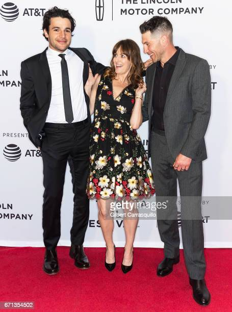 Actors Christopher Abbott Rosemarie DeWitt and Jon Bernthal attend the 'Sweet Virginia' Premiere during 2017 Tribeca Film Festival at Cinepolis...