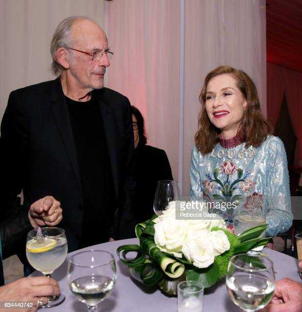 Actors Christopher Lloyd and Isabelle Huppert attend the afterparty at the Montecito Award during the 32nd Santa Barbara International Film Festival...